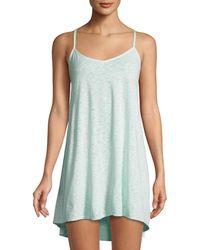 Vitamin A - Paloma Knit Mini Coverup Dress - Lyst