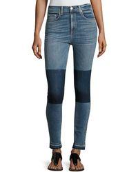 Rag & Bone - Dive High-rise Colorblock Capri Jeans - Lyst