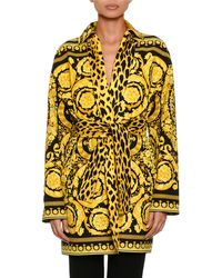 Versace - Reversible Twill Trench Coat - Lyst