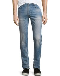 Hudson Jeans - Sartor Slouchy Distressed Skinny Jeans - Lyst