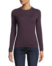 Neiman Marcus - Modern Superfine Cashmere Crewneck Sweater - Lyst
