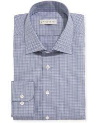 Etro Men's Woven Check Dress Shirt - Blue