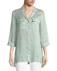 Lafayette 148 New York - Fran Gemma Cloth Blouse - Lyst