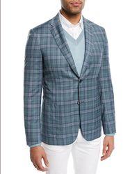 Brioni - Plaid Woven Wool Blazer - Lyst