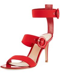 Gianvito Rossi - Elastic Multi-strap High Sandals - Lyst