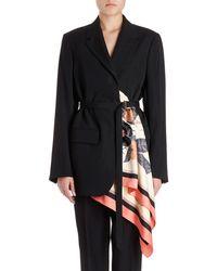 Dries Van Noten - Bacchu Jacket Blazer W/ Attached Foulard Side Wrap - Lyst