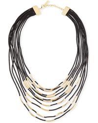 Lafayette 148 New York - Long Signature Mesh Necklace With Metal Detail - Lyst