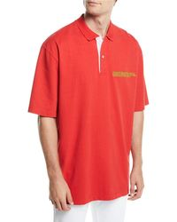 CALVIN KLEIN 205W39NYC Men's Oversized Polo Shirt With Embroidered Logo