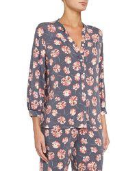 Eberjey - Veranda Floral-print Pajama Top - Lyst
