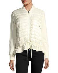 Moncler - Maglia Knit Puffer Combo Jacket W/ Peplum Hem - Lyst