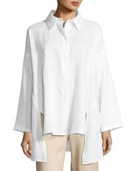 Go> By Go Silk - Linen Oversized Shirt - Lyst