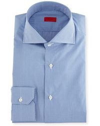 Isaia - Slim-fit Gingham Check Dress Shirt - Lyst