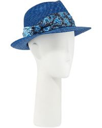 Hot Etro - Men s Straw Fedora Hat With Silk Band - Lyst a20f129a98c7