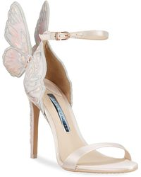 Sophia Webster Chiara Butterfly Wing Bridal Sandals - White