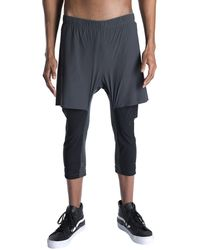Isaora Men's Sprinter Hybrid Active Shorts - Black