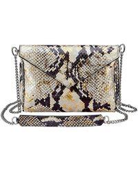 Gigi New York Lena Envelope Snake-print Crossbody Bag - Metallic