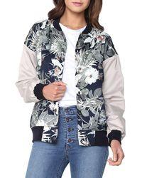 James Jeans Varsity Hibiscus-print Bomber Jacket - Multicolor