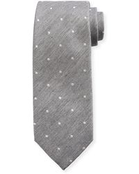Tom Ford - Melange Small-dot Silk/cotton Tie - Lyst