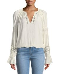 Ramy Brook - Antonia Embellished Peasant Top - Lyst