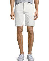 PAIGE - Men's Thompson Cotton Twill Flat-front Shorts - Lyst