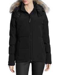 Canada Goose Chelsea Fur-hood Parka Coat - Black