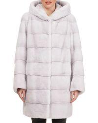 Gorski - Reversible Horizontal-quilted Mink-fur Stroller Coat - Lyst