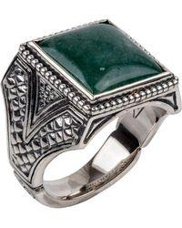 Konstantino | Men's Sterling Silver & Aventurine Signet Ring | Lyst