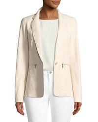 Lafayette 148 New York - Lyndon Zip-pocket Leather Jacket - Lyst