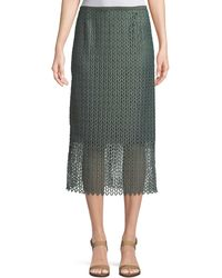 Lafayette 148 New York - Robby Lambent Lace Slim Skirt - Lyst