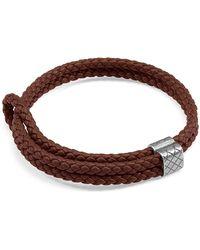 Bottega Veneta - Double Intrecciato Woven Leather Bracelet - Lyst