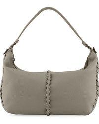 Bottega Veneta - Cervo Medium Leather Shoulder Hobo Bag - Lyst