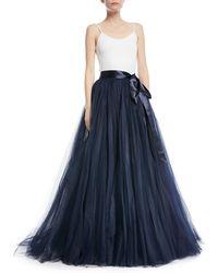 Jenny Packham - Tulle Ball Skirt With Ribbon Belt - Lyst