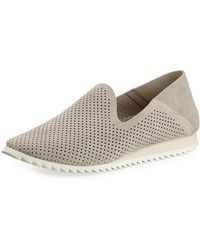 Pedro Garcia - Cristiane Perforated Suede Sneakers - Lyst