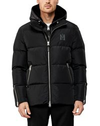 Mackage Men's Ryden Shearling-lined Hooded Puffer Coat - Black