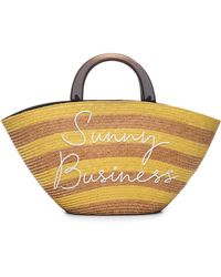 Eugenia Kim Striped 'sunny Business' Tote Bag - Yellow