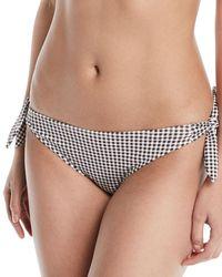 Eberjey - Betty Ursula Gingham Tie-side Swim Bikini Bottoms - Lyst
