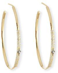 Armenta Old World Diamond Hoop Earrings W/ 18k Gold - Metallic