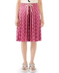 Gucci - Logo-print Pleated Wide-leg Technical Jersey Shorts - Lyst