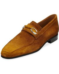 43a7943c65d Lyst - Corthay Men s Rascaille Suede Penny Loafers in Blue for Men