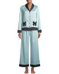 Kate Spade - Classic Charmeuse Pajama Set With Bows - Lyst