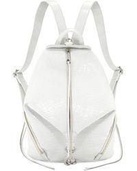 Rebecca Minkoff - Julian Embossed Medium Leather Backpack - Lyst