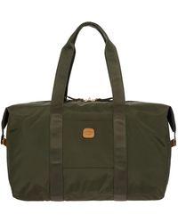 "Bric's X-bag 18"" Folding Duffel Bag Luggage - Green"