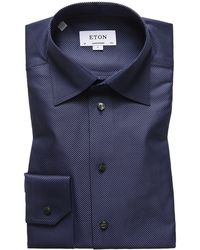 Eton of Sweden - Men's Contemporary-fit Diagonal Stripe Dress Shirt - Lyst