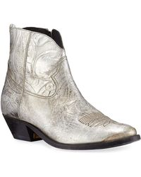 43e7db684a9 Golden Goose Deluxe Brand Goose Young Metallic Crackled Western ...