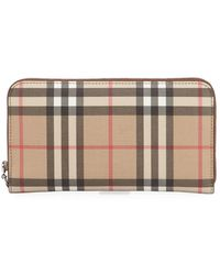 Burberry Elmore Vintage Check Wallet - Brown