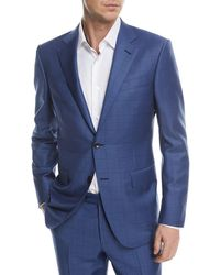 Ermenegildo Zegna - Windowpane Trofeo® Wool Two-piece Suit - Lyst