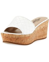 Sesto Meucci - Tarie Quilted Napa Wedge Slide Sandal - Lyst