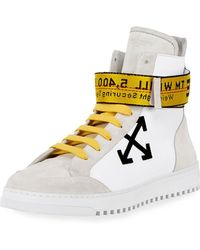 Off-White c/o Virgil Abloh - Men's Suede & Leather High-top Sneakers - Lyst