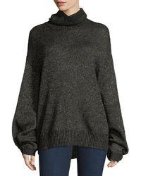 Caroline Constas - Jasper Turtleneck Metallic Mohair Knit Sweater - Lyst