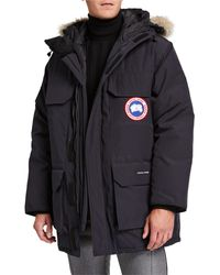 Canada Goose Men's Expedition Hooded Parka Coat - Blue